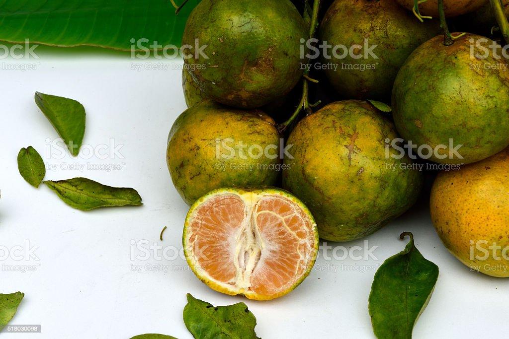 Orange and pulps stock photo