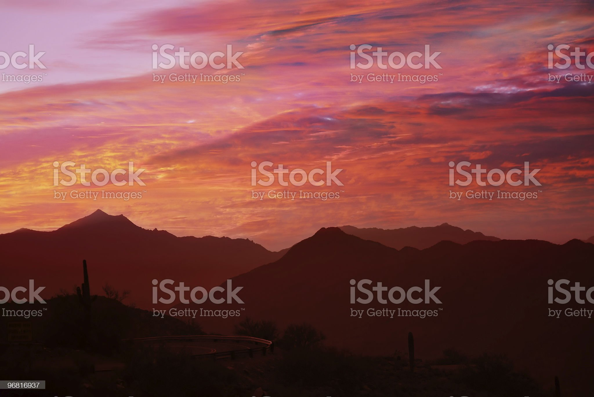orange and red desert sunset royalty-free stock photo