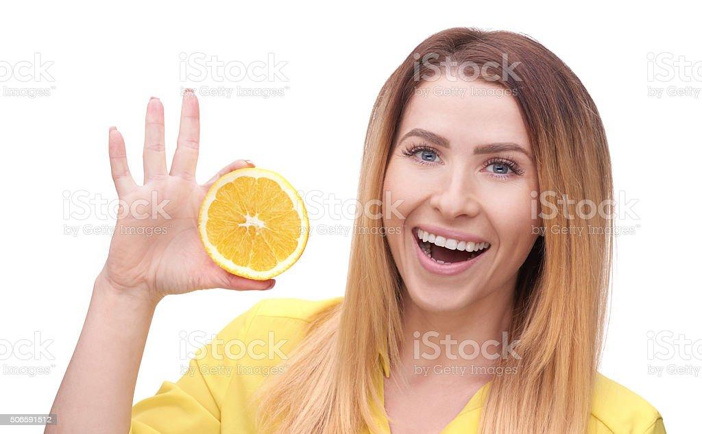orange and vitamin C stock photo