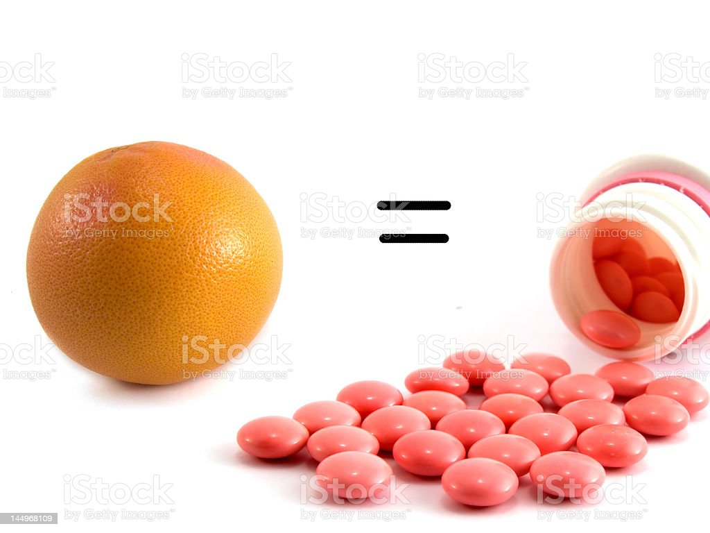 orange and vitamins royalty-free stock photo