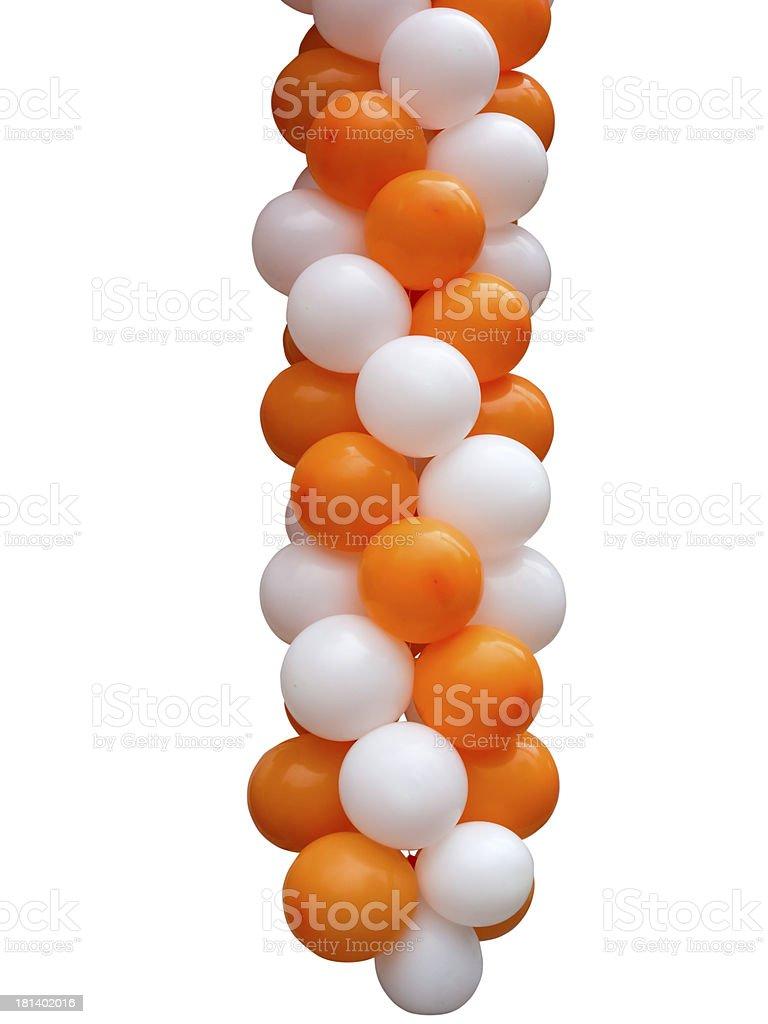 Laranja e branco balões isoladas foto de stock royalty-free