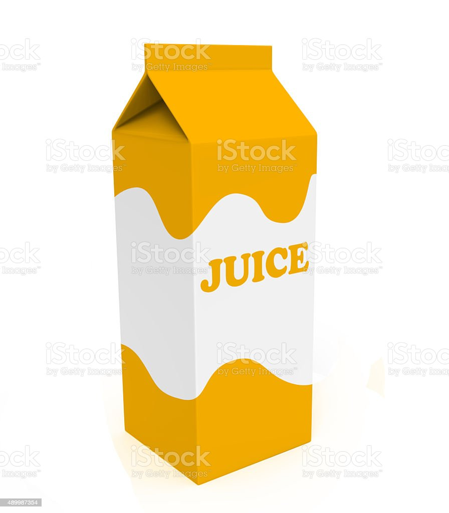 Orange and white juice box stock photo