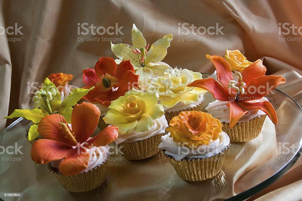 Orange and yellow blossoms stock photo