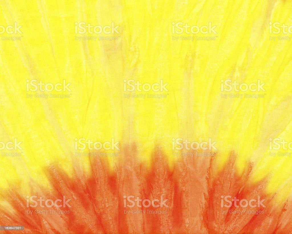 Orange and Yellow  Dye Sunrise Background Pattern or Texture royalty-free stock photo