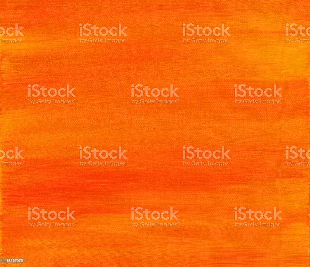 Orange and Yellow Painted Sunset Background ~ Brush Strokes stock photo