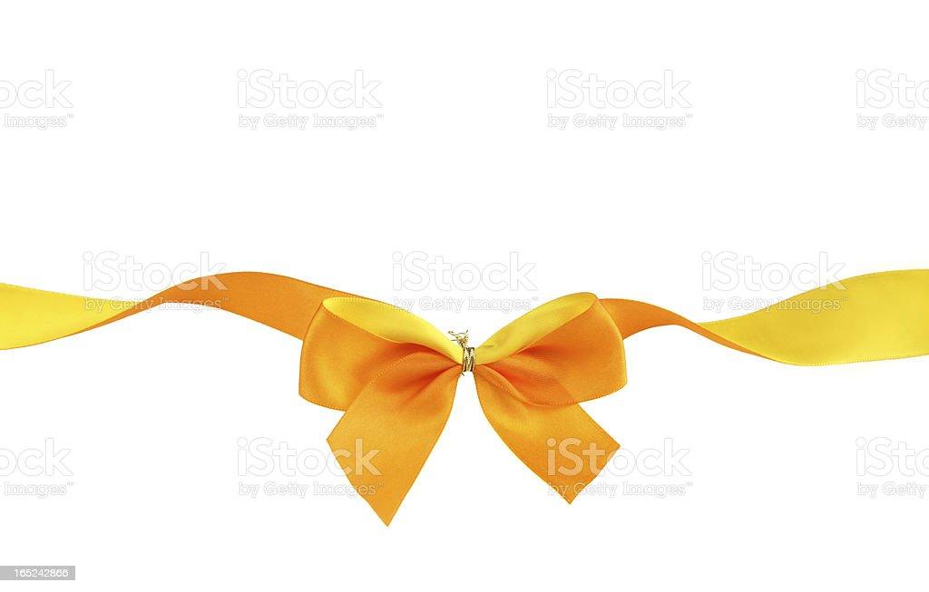 Orange and yellow ribbon royalty-free stock photo