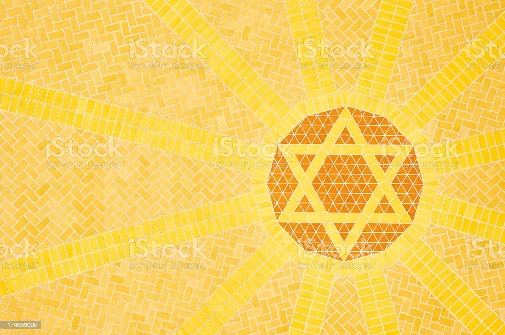 Orange and Yellow Star of David royalty-free stock photo
