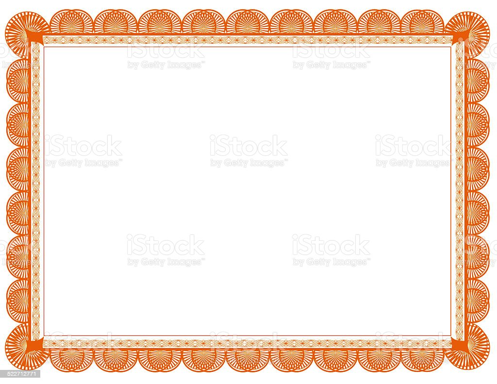 Orange and yellow two toned Document Frame, suitable for printing stock photo