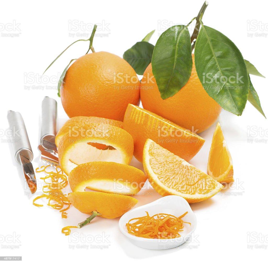 Orange and zest stock photo