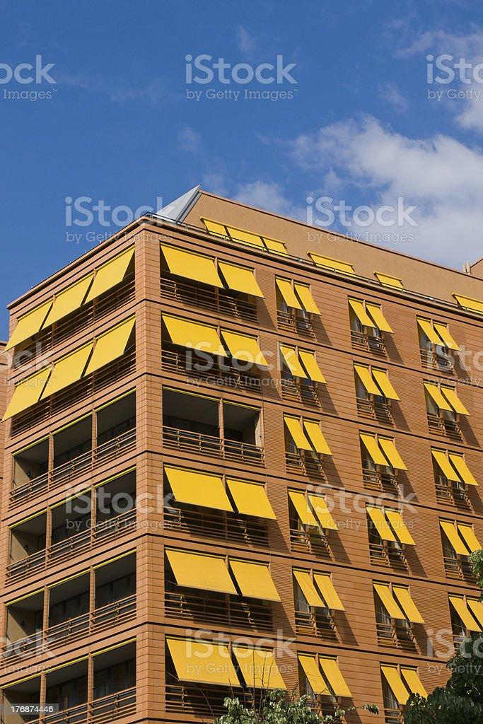 Orange apartment building in Berlin royalty-free stock photo
