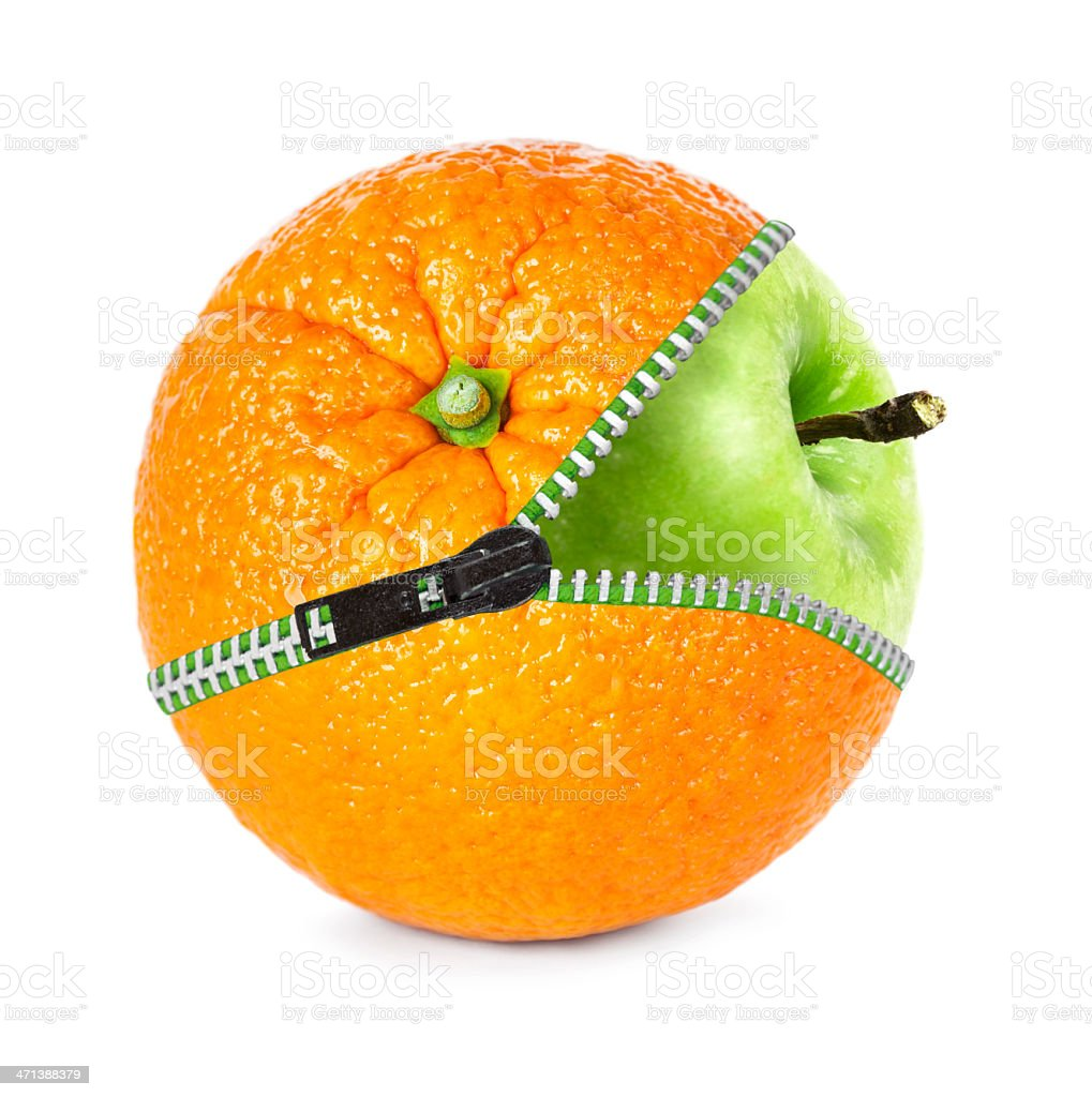 Orange apple royalty-free stock photo