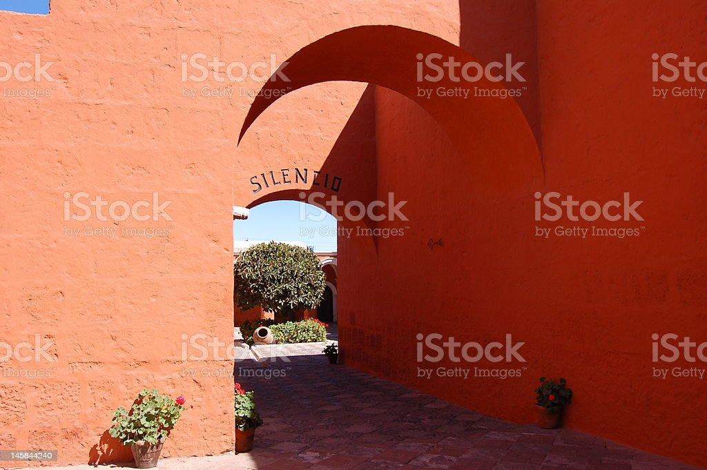 Orange arches stock photo