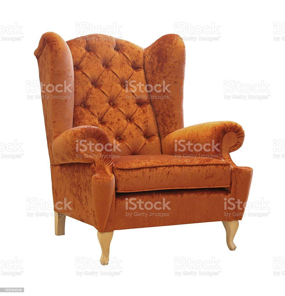 Orange armchair royalty-free stock photo