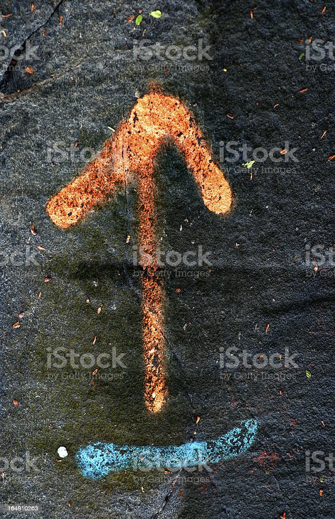 Orange arrow royalty-free stock photo
