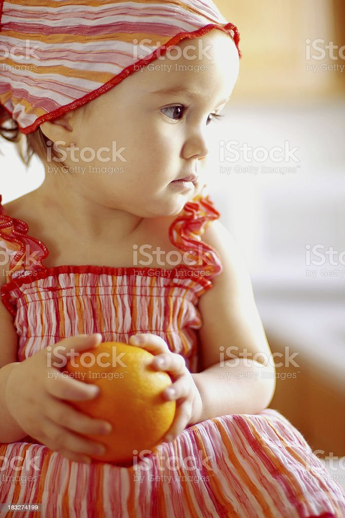 Orange Baby royalty-free stock photo
