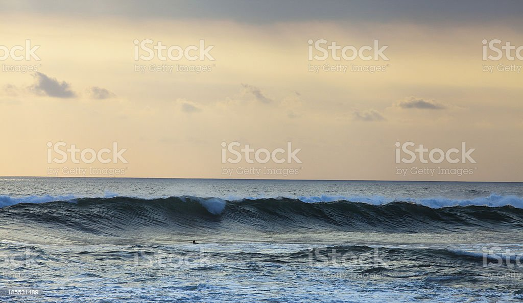 orange background of ocean, Bali, Indonesia royalty-free stock photo
