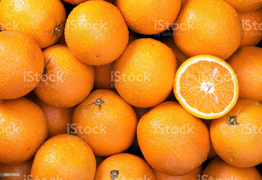 Orange background stock photo