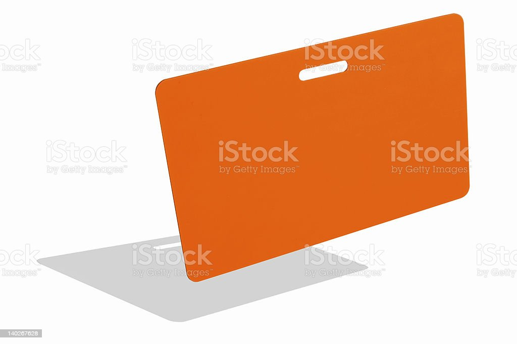 Orange badge royalty-free stock photo