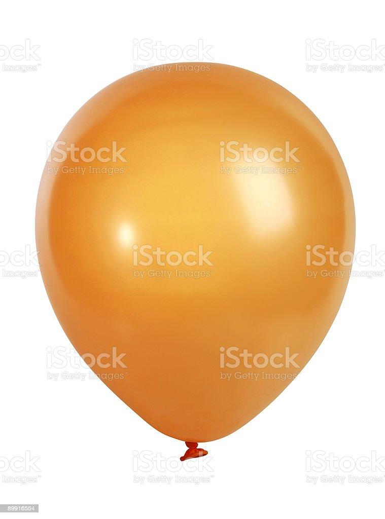 Orange balloon isolated on white stock photo