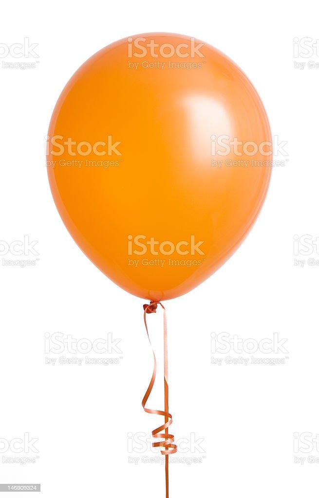 Orange Balloon on White stock photo