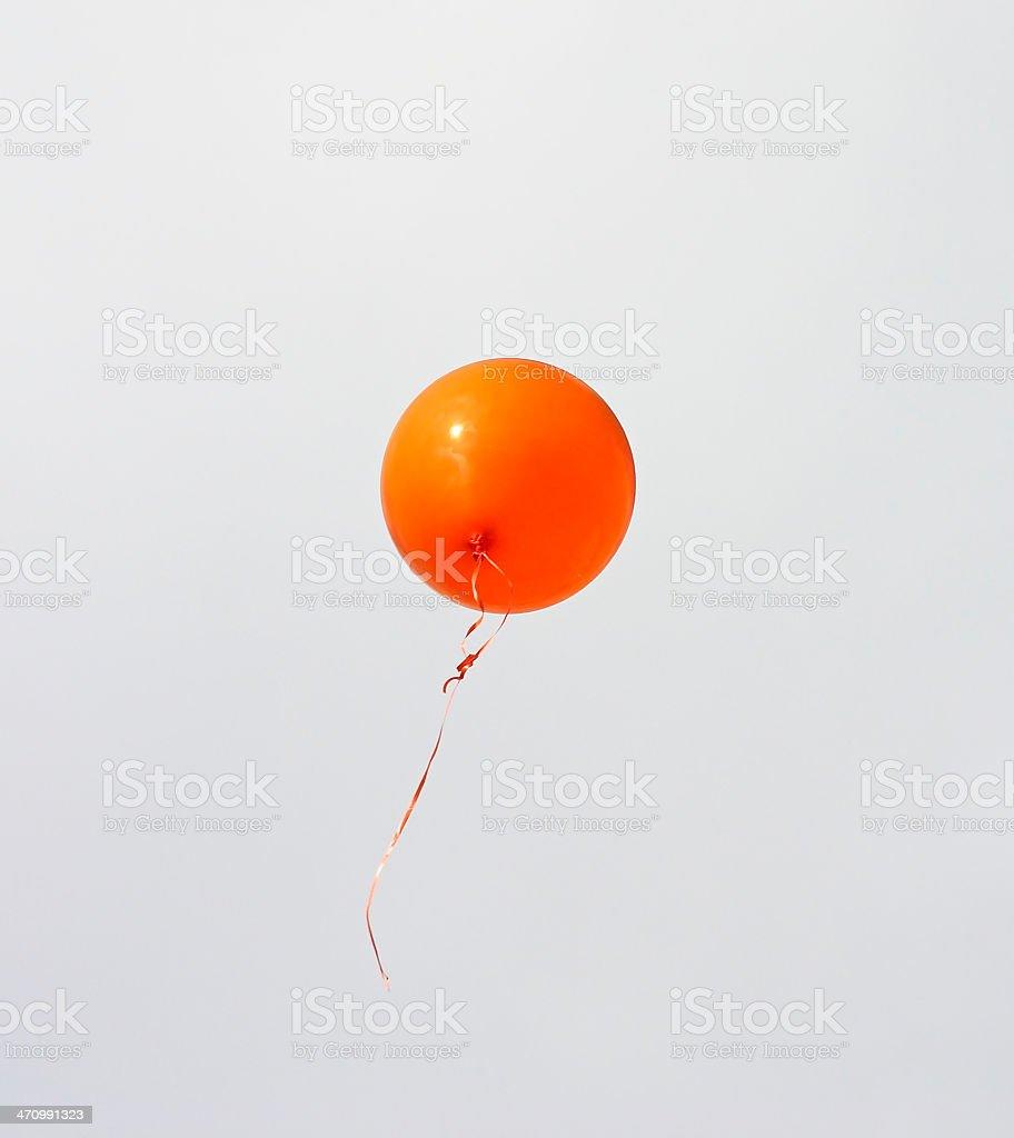 Orange Balloon stock photo