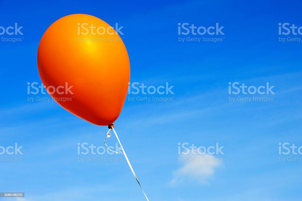 Orange balloon # 4 stock photo