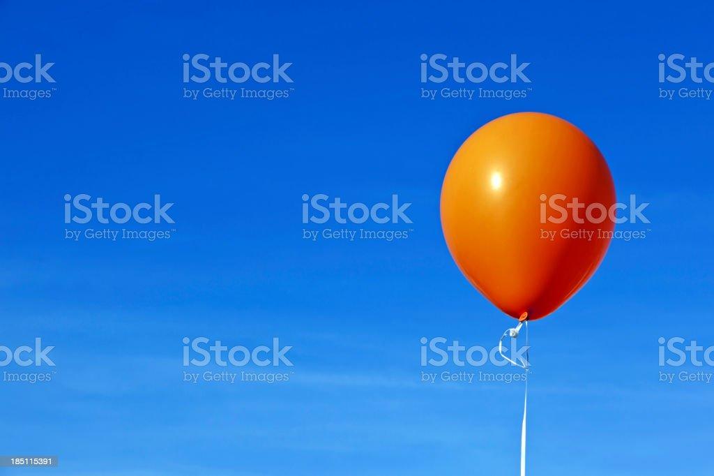Orange balloon # 1 XXXL royalty-free stock photo