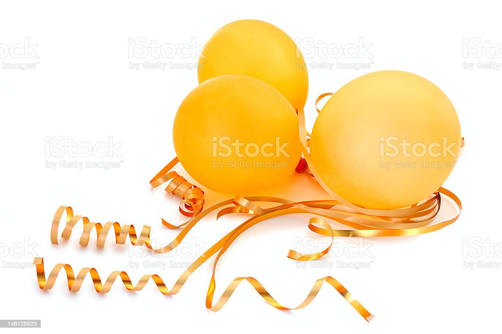 Orange balloons. stock photo