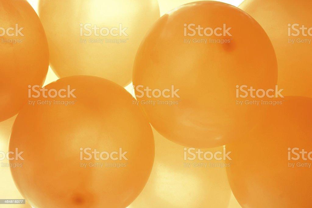orange balloons stock photo