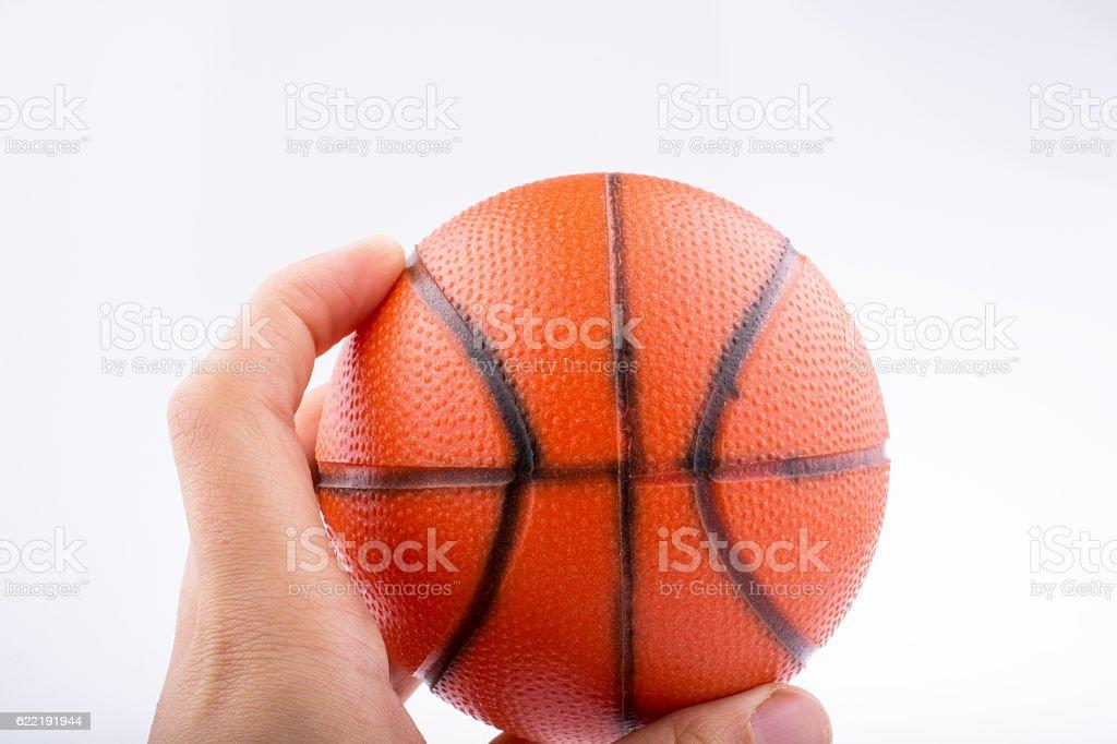 Orange Basketball Model stock photo