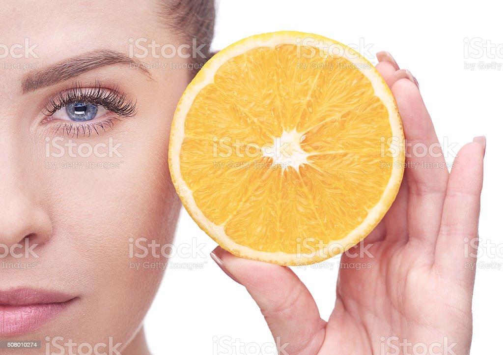 orange beauty concept stock photo