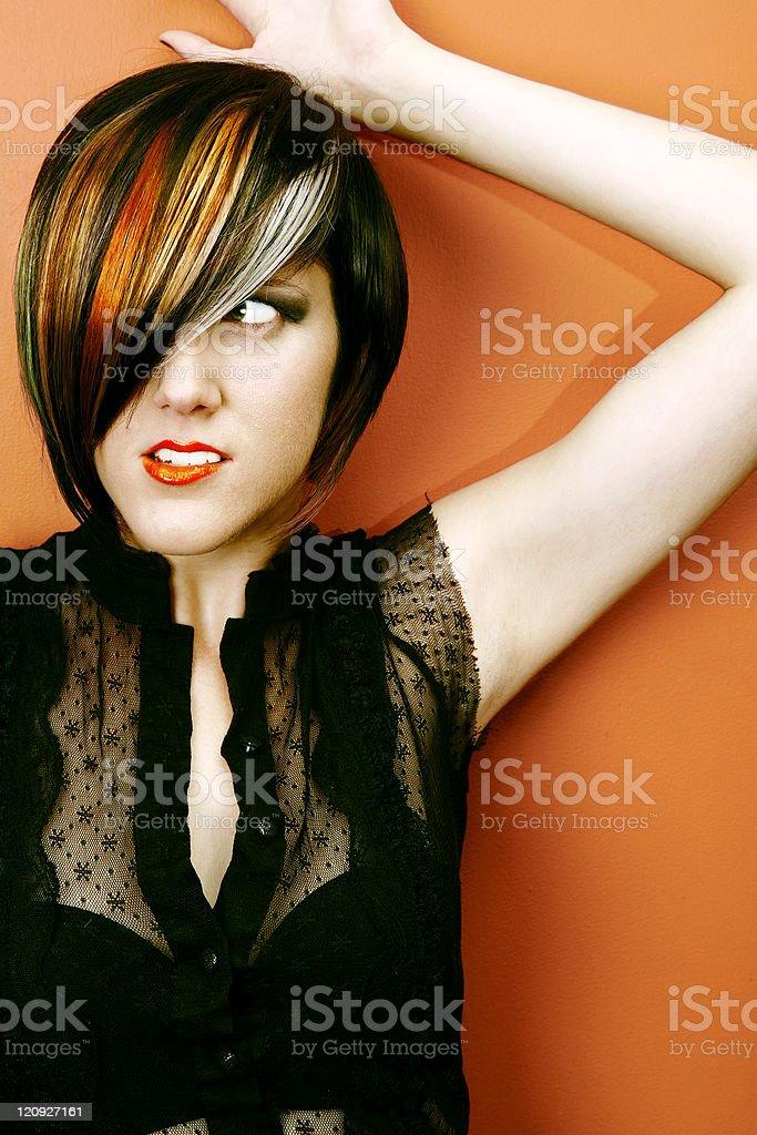 Orange beauty portrait royalty-free stock photo