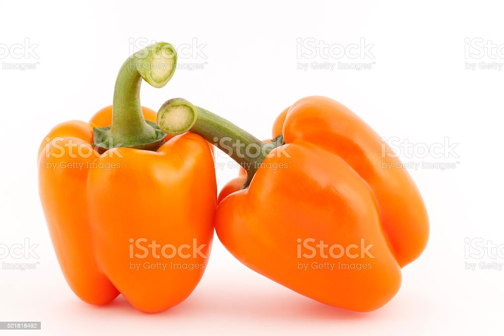 Orange Bell Peppers stock photo