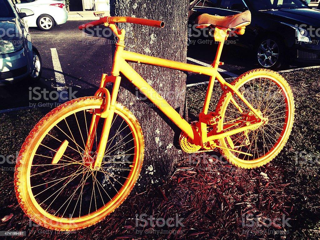 Orange Bike royalty-free stock photo