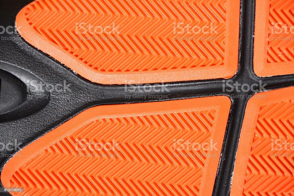 Orange black sole background stock photo