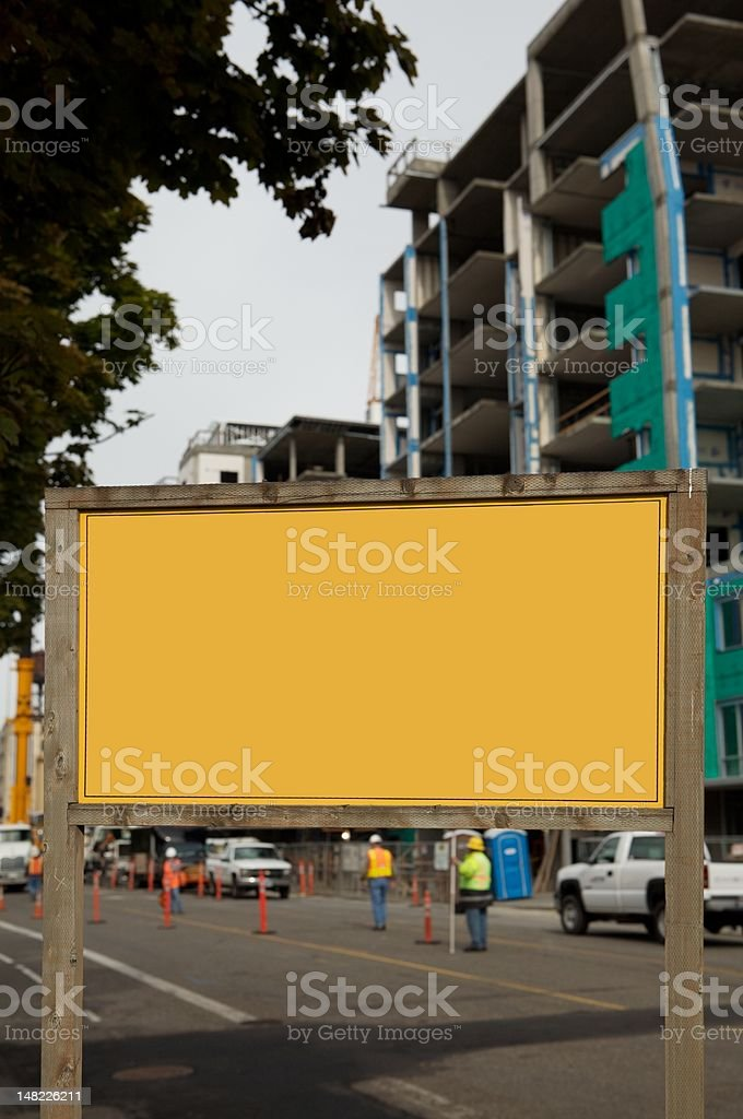 orange blank sign stock photo