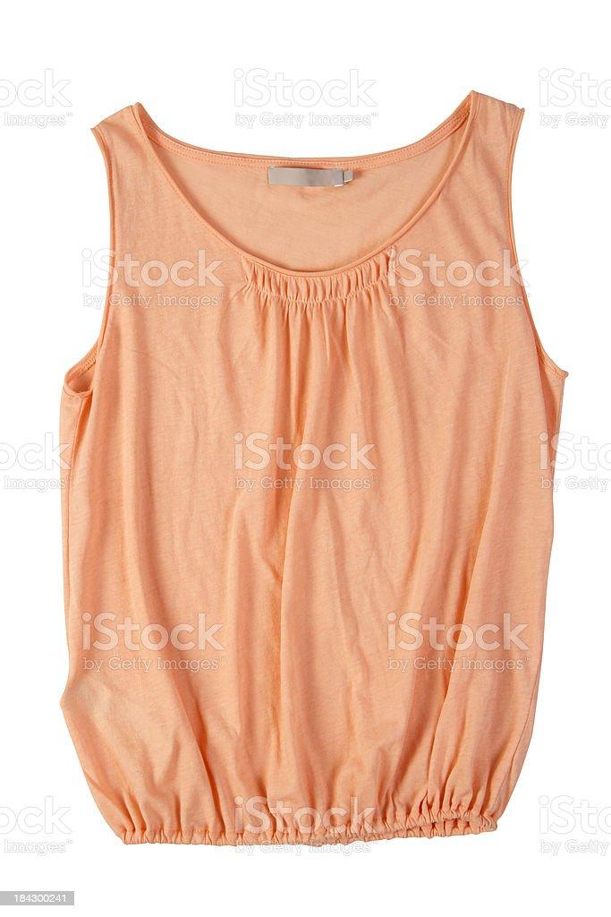 orange blouse royalty-free stock photo