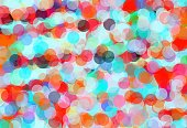 orange blue and green circle pattern abstract background