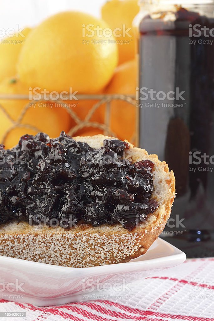 Orange blueberry preserves royalty-free stock photo