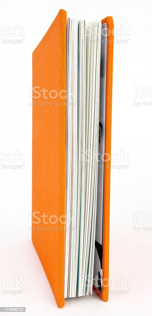 Orange Book royalty-free stock photo