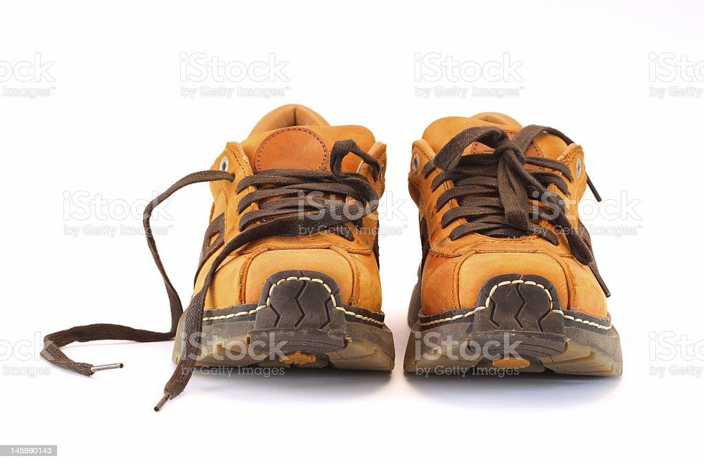 Orange boots royalty-free stock photo