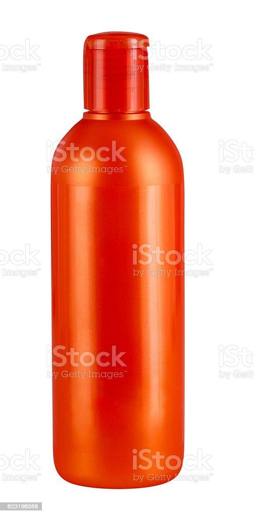 Orange bottle stock photo