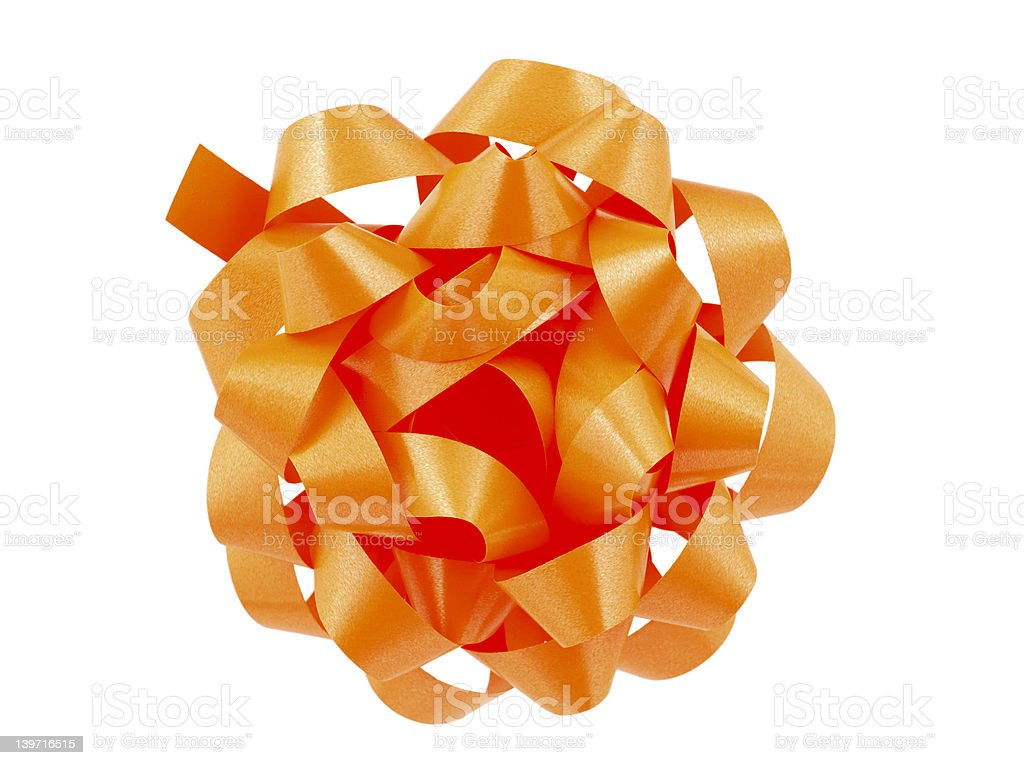Orange Bow royalty-free stock photo