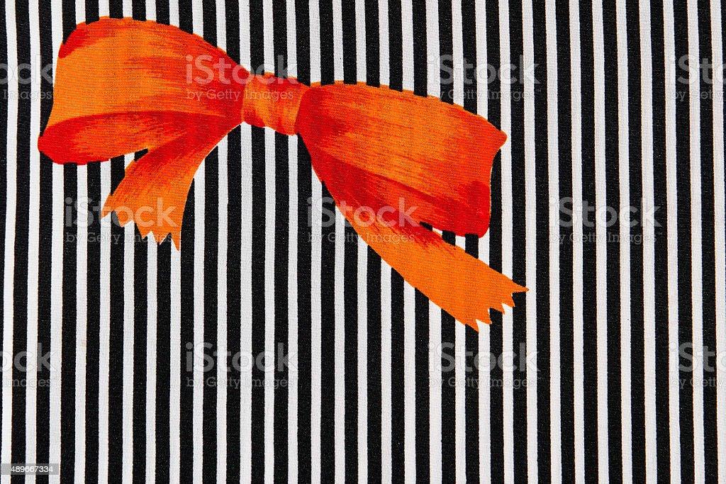 Orange bow stock photo
