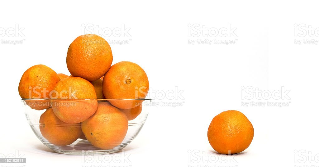 Orange Bowl royalty-free stock photo