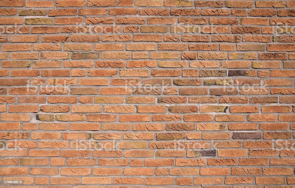 Orange brickwall stock photo