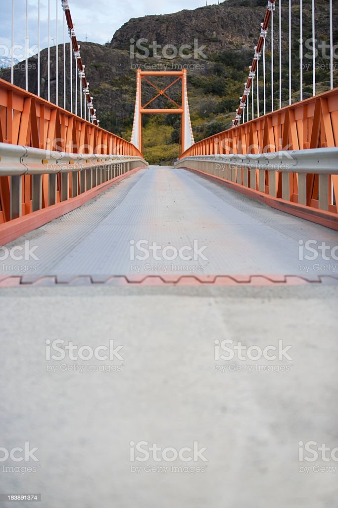 Orange Bridge royalty-free stock photo