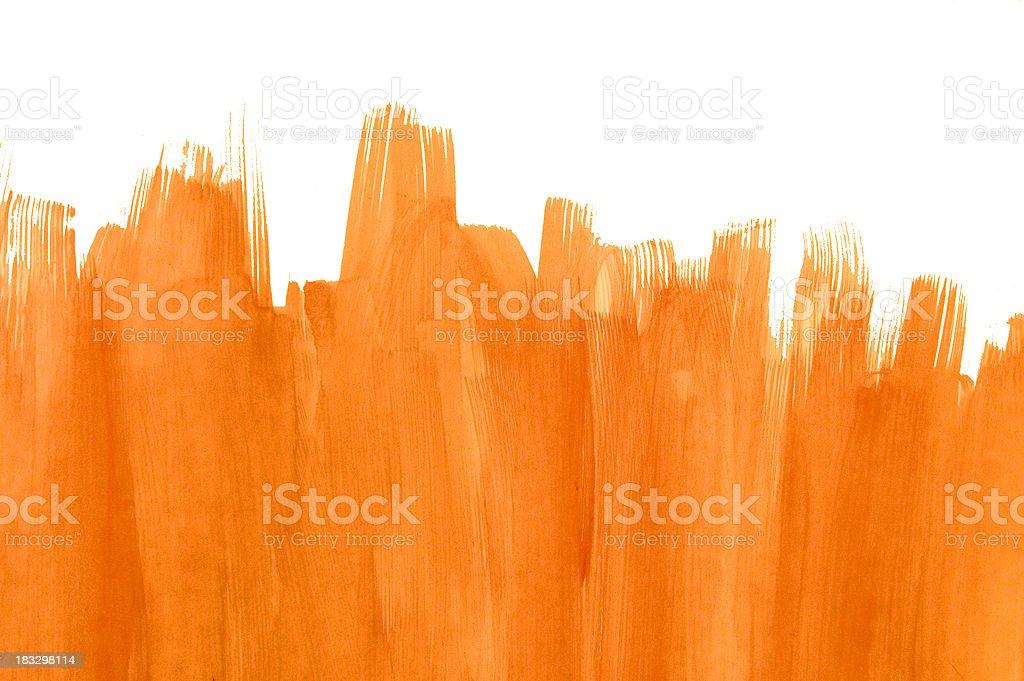 Orange brush stroke background stock photo