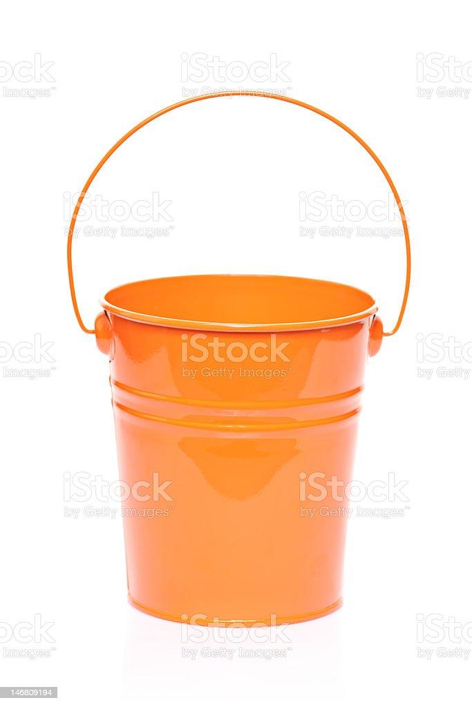 Orange bucket royalty-free stock photo