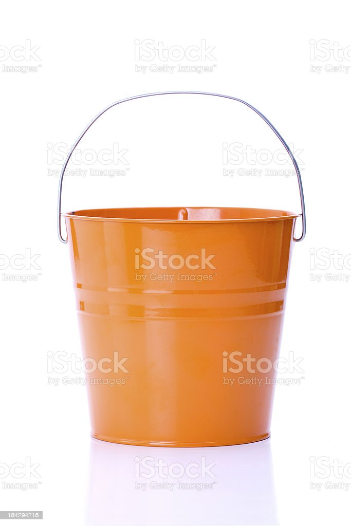 orange bucket stock photo